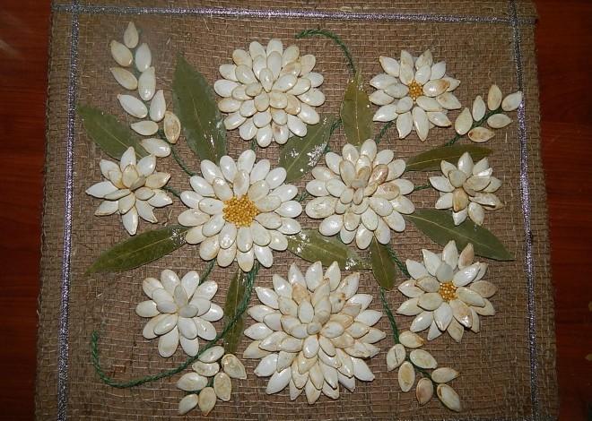 Картинки от литьевого основы из семечек тыквы и фасоли, про любовь