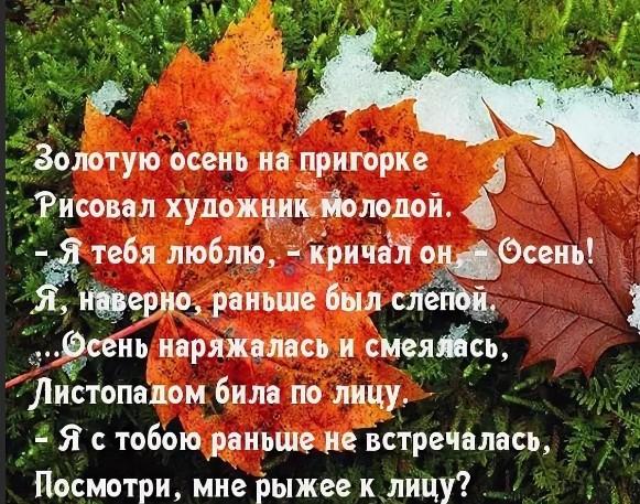 Днюхой, открытки со стихами про осень прикольные