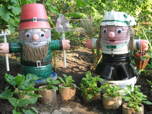Поделки из пластиковых бутылок для сада, дачи и огорода (мастер-классы с фотоописанием работ)
