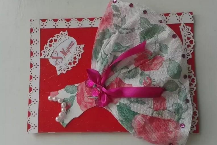 Роз букеты, открытка платье из салфеток мастер класс
