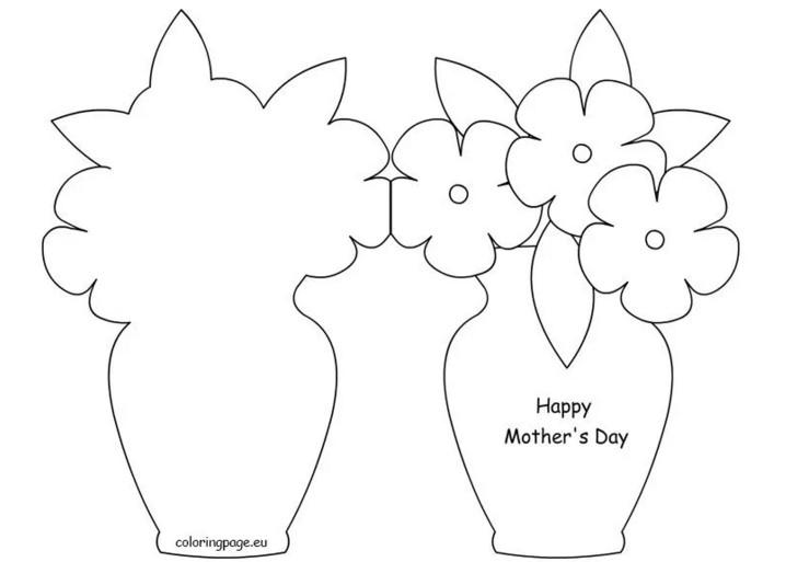 Шаблон открытки для мамы, факты