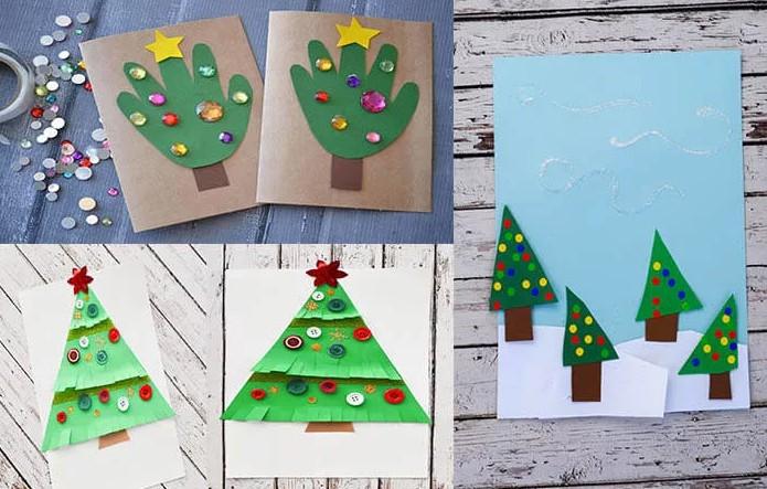 Новогодняя открытка для детей 2-3 лет