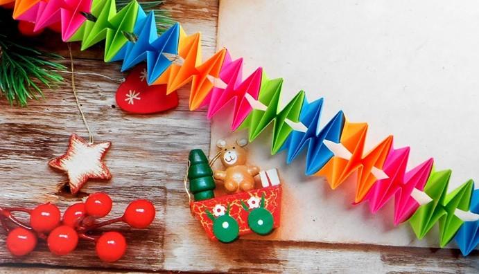 Гирлянда на Новый год своими руками из бумаги с шаблонами и схемами
