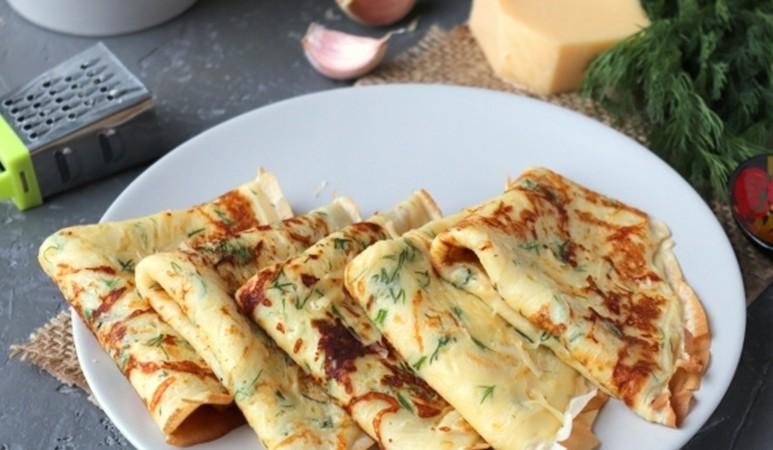 Сырные блины — просто, быстро и вкусно