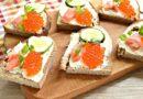 Бутерброды с горбушей на праздничный стол: простые и вкусные